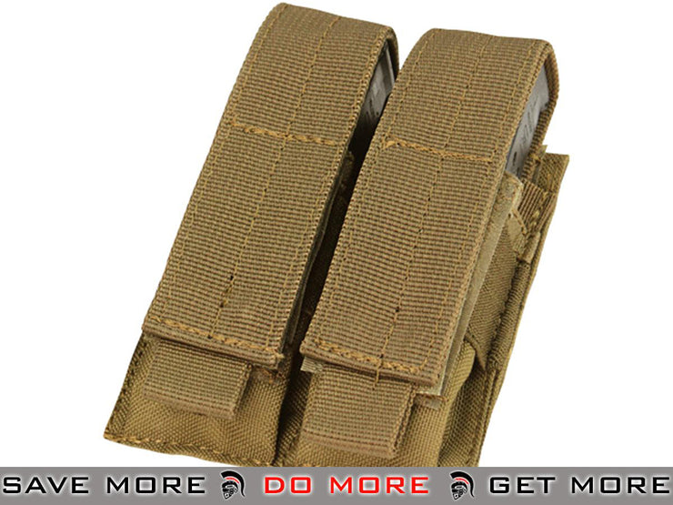 Condor Coyote Brown Tactical Double Pistol Magazine Pouch Tan / Desert / Coyote / FDE- ModernAirsoft.com