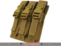 Condor Tactical Triple MP5 / SMG Magazine Pouch (Coyote Brown) Tan / Desert / Coyote / FDE- ModernAirsoft.com