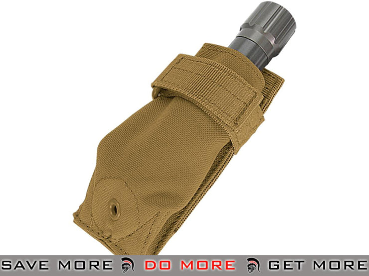Condor Coyote Brown Tactical Flashlight Pouch Tan / Desert / Coyote / FDE- ModernAirsoft.com