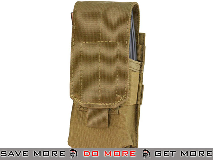 Condor Single M4 Magazine Pouch (Coyote Brown) Tan / Desert / Coyote / FDE- ModernAirsoft.com