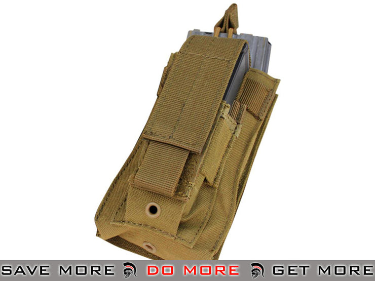 Condor Coyote MOLLE Kangaroo M16/M14 Magazine and Pistol Magazine Pouch Tan / Desert / Coyote / FDE- ModernAirsoft.com