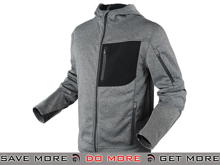 Condor Cirrus Technical Fleece Jacket (Gray / X-Large) Jackets / Sweaters / Hoodies- ModernAirsoft.com