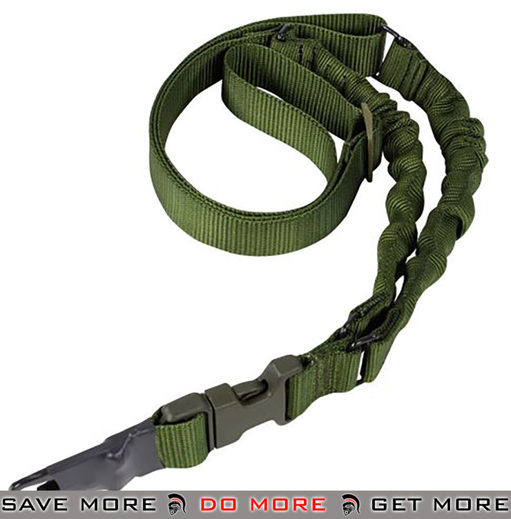 Condor OD Green ADDER Double Bungee One Point Sling Slings- ModernAirsoft.com
