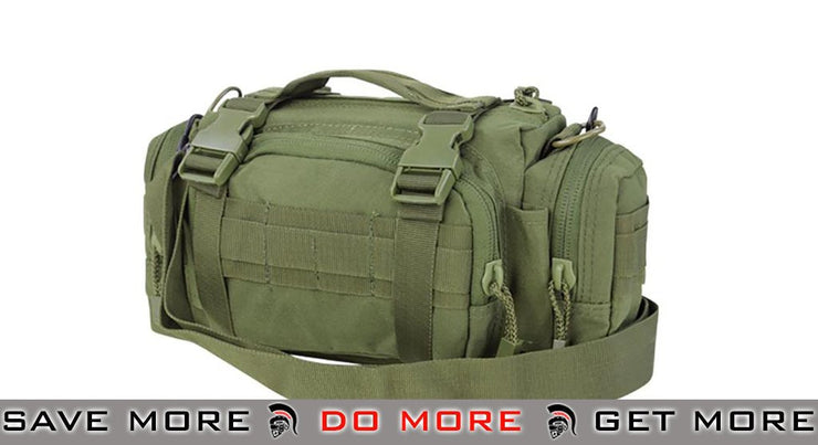 Condor Deployment Bag w/ Accessory MOLLE Pouch  - Color: OD Green - Condor Item Number 127 OD / Green Pouches- ModernAirsoft.com