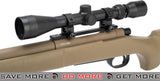 CYMA M24 US Army Bolt Action Airsoft Sniper Rifle (Tan /Fluted Barrel) M700 / M24 / M28 / M40 / VSR-10- ModernAirsoft.com