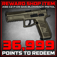 Reward Shop Item - ASG CZ P-09 Polymer Airsoft GBB Pistol - Dark Earth