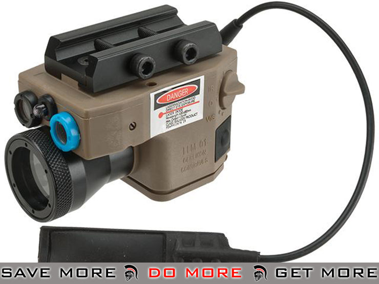 Element Multi-Function Flashlight / Laser /IR Aiming Device for Airsoft - Dark Earth flashlight- ModernAirsoft.com