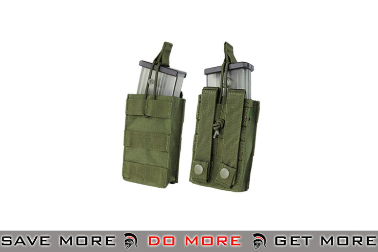 Condor Single Open Top Magazine Pouch for G36 Magazines (OD Green) OD / Green Pouches- ModernAirsoft.com