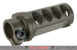 Full CNC M107 Style Muzzle Brake for M82 Series Airsoft Sniper Rifles by 6mmProShop - Dark Earth