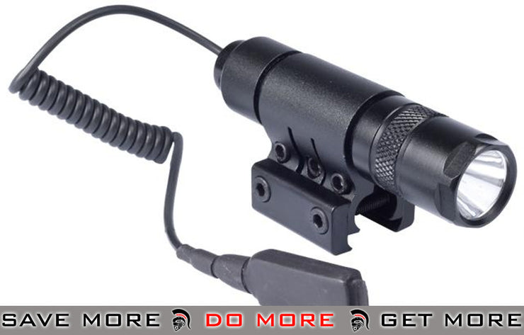 AIM Sports Metal 90 Lumen Flashlight LED (Mount and Pressure Switch) Other- ModernAirsoft.com