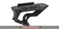 PTS® Fortis Shift™ CNC Machined Billet Aluminum Short Angled Picatinny Mounted Grip (Color: Black) Vertical Grips- ModernAirsoft.com