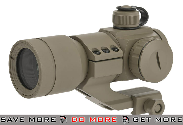 G&G Tan Tactical Red/Green/Blue Dot with Cantilever Weaver Mount Red Dot Sights- ModernAirsoft.com