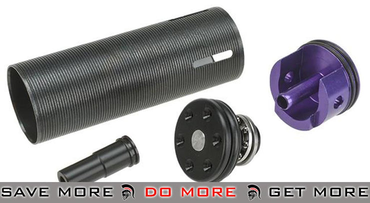 Lonex Complete Internal Upgrade Series Enhanced Cylinder Set for SG551, SG552 Airsoft AEG Rifles - POM Ventilation Type Internal Parts- ModernAirsoft.com