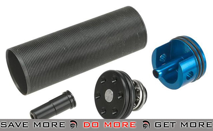 Lonex Complete Internal Upgrade Series Enhanced Cylinder Set for M16A1, VN Airsoft AEG Rifles - POM Ventilation Type Internal Parts- ModernAirsoft.com