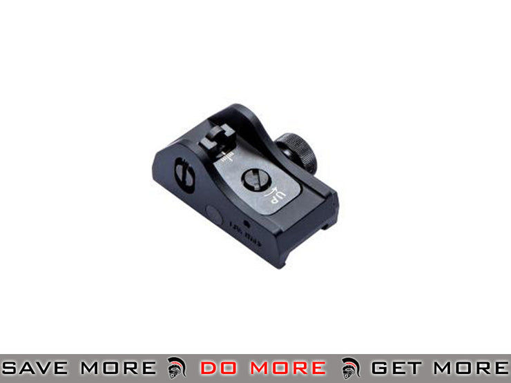 ASG Scorpion EVO 3-A1 Rear Sight by LPA iron sights- ModernAirsoft.com