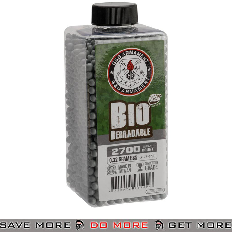 G&G Airsoft BBs .32g 2700 Bio Rounds Gray