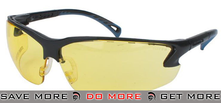 ASG Strike Systems Protective Airsoft Shooting Glasses (Yellow) Head - Shooting Glasses- ModernAirsoft.com