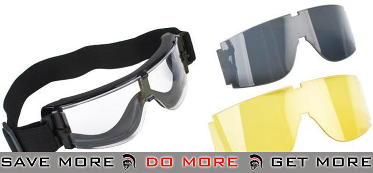 GX-1000 Anti-Fog Tactical Shooting Goggle System (Set with two spare lens) by Guarder / Matrix Head - Goggles- ModernAirsoft.com