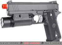 WE 4.3 Hi-Capa Full Metal Airsoft Gas Blowback (Threaded Barrel / Railed Frame) WE / CQB Master- ModernAirsoft.com
