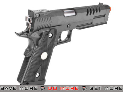 "WE CQB Master Custom Full Metal ""Hyper Strike"" Hi-CAPA Airsoft Gas Blowback Pistol with Diamond Pattern Grip Other Series Custom Guns- ModernAirsoft.com"