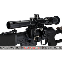 AIM Black Gas Blowback Russian Classic AK SVD Airsoft GBB Sniper Rifle w/ Scope SVD / Dragunov / Type 79- ModernAirsoft.com