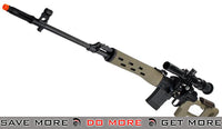AIM Tan Gas Blowback Russian Classic AK SVD Airsoft GBB Sniper Rifle w/ Scope SVD / Dragunov / Type 79- ModernAirsoft.com