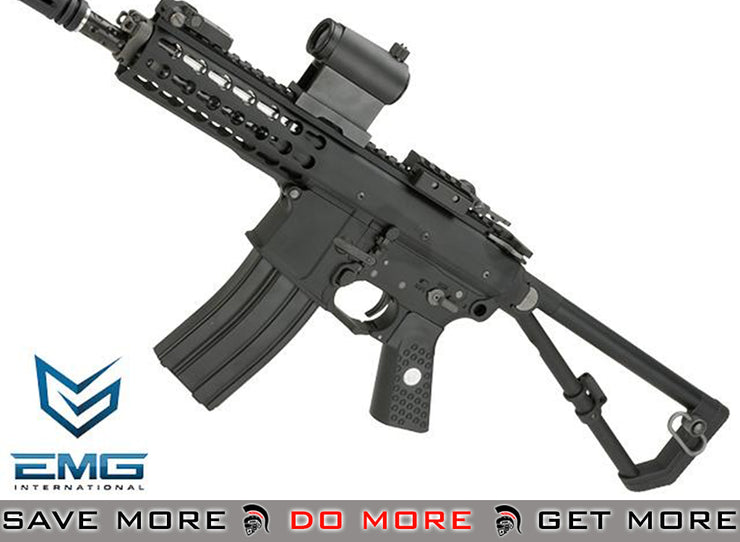 EMG Knights Armament Airsoft PDW M2 Compact Gas Blowback Airsoft Rifle PKG-KAA-PDW-S-BK - Black, Double Green Gas Magazine Bundle Deal! Gas Blowback Rifle- ModernAirsoft.com
