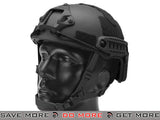 Emerson Bump Type Airsoft Helmet (MICH Ballistic Type / Advanced) - Black Airsoft- ModernAirsoft.com