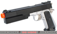 "HFC Full Size 1911 ""Super Killer"" Combat .45 Airsoft Gas Pistol - Two Tone HFC- ModernAirsoft.com"