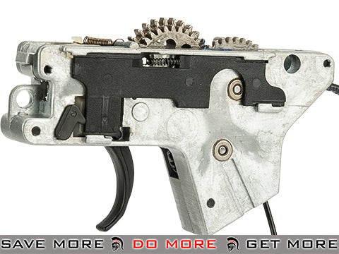 ICS M4 Complete Lower Gear Box w/ Wiring Gears and Trigger Assembly (Rear Wiring) Gearbox- ModernAirsoft.com