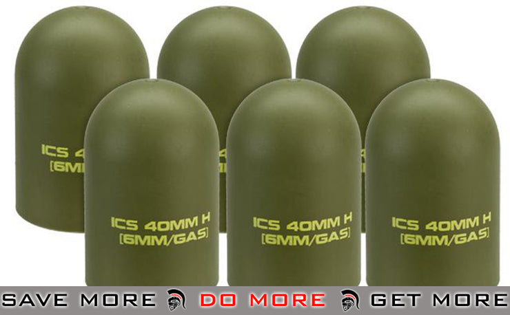 ICS Airsoft 40mm Replacement Polymer Grenade Cap (Set of 6) Grenade Shells- ModernAirsoft.com