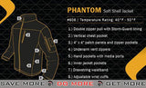 Condor Tactical Phantom Soft Shell Jacket (Black / Medium) Jackets / Sweaters / Hoodies- ModernAirsoft.com
