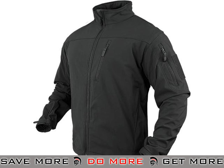 Condor Tactical Phantom Soft Shell Jacket (Black / Large) Jackets / Sweaters / Hoodies- ModernAirsoft.com