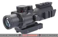AIM Sports  Tri-Illuminated 4X32 Scope with Tri-Weaver Rails and QD Rail Mount Illuminated Scopes- ModernAirsoft.com