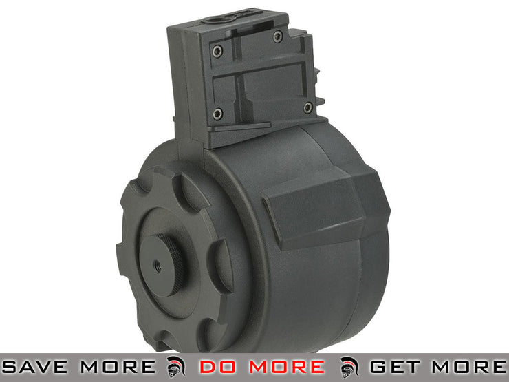 Angel Custom 1500 Round Firestorm Airsoft AEG Drum Flashmag (Black / G36 Adapter) Electric Gun Magazine- ModernAirsoft.com