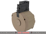 Angel Custom 1500 Round Firestorm Airsoft AEG Drum Flashmag (Dark Earth / G36 Adapter) Electric Gun Magazine- ModernAirsoft.com