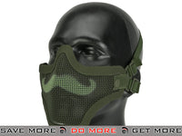 "6mmProShop ""Moustache"" Iron Face Carbon Steel Mesh Lower Half Mask - OD Green"
