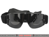 GX-1000 Anti-Fog Tactical Shooting Goggle System w/ CD Kane Strap by Matrix (Lens: Smoke / Black Frame) Head - Goggles- ModernAirsoft.com