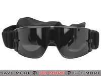 GX-1000 Anti-Fog Tactical Shooting Goggle System w/ CD Kane Strap by Matrix (Lens: Smoke / Black Frame) - Modern Airsoft