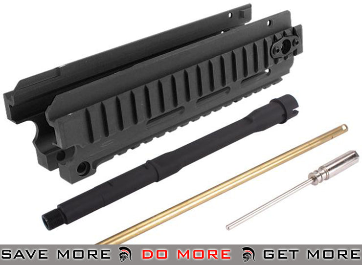 CNC Aluminum CQB RIS Kit for A&K Masada Airsoft AEG Rifles - Black Conversion Kits- ModernAirsoft.com