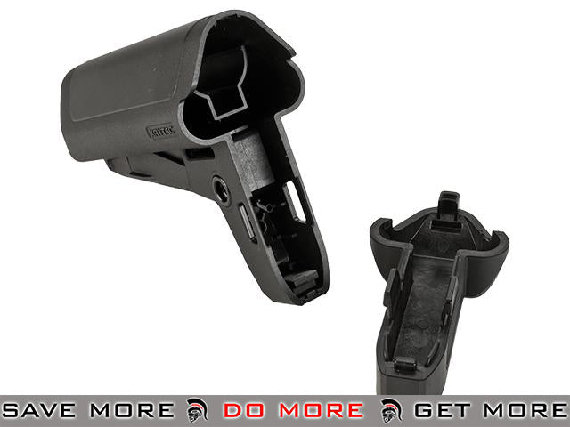 Krytac Adjustable Crane Style Retractable Stock for M4 Series AEG Rifles - Black Stocks- ModernAirsoft.com