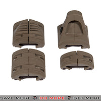 Lancer Tactical Airsoft Rail Segment Hand Stop Kit AC-349T - Tan