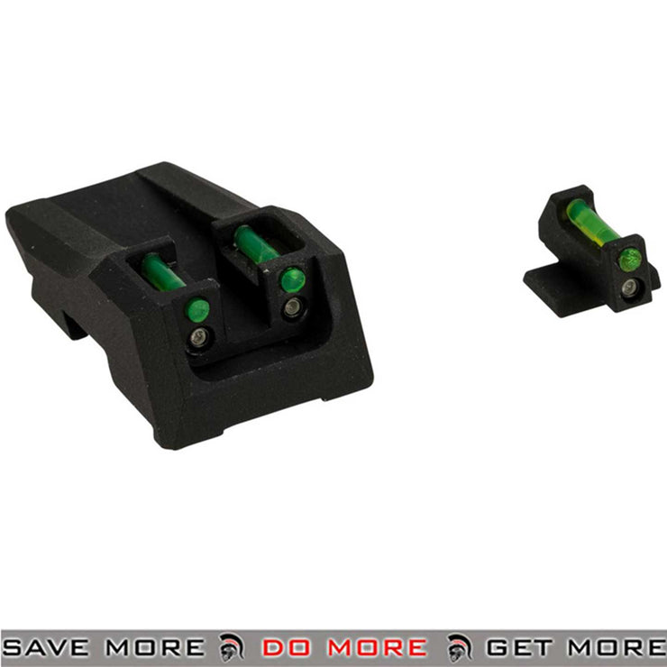 Nine Ball Hybrid Tritium / Fiber Optic Combat Sight Set for Tokyo Marui Gas Blowback Airsoft Pistols