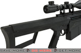 Lancer Tactical Polymer LT-20B M82 Spring Powered Airsoft Sniper Rifle (Black) Bolt Action Sniper Rifle- ModernAirsoft.com