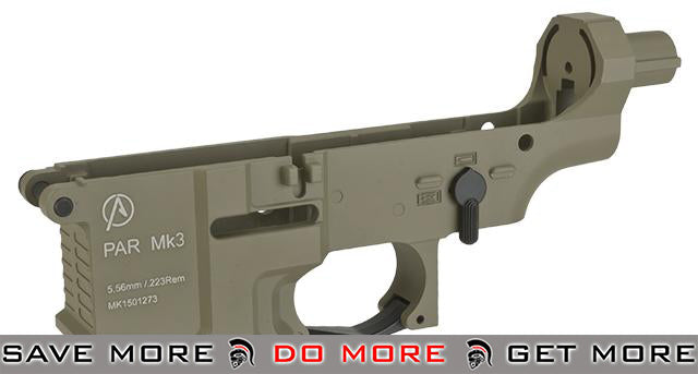 ICS Pro-Arms Armory MK3 Full Metal Aluminum Lower Receiver for Airsoft AEG Rifles - Tan Metal Bodies / Receivers- ModernAirsoft.com