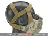 Lancer Tactical Breathable Padded Dual Layered Nylon Half Face Mask ACU Version 5 (Bump Helmet Straps included) - Modern Airsoft