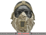 6mmProShop V5 Padded Dual Layered Nylon Half Face Mask w/ Bump Helmet Straps (Digital Desert) Face Masks- ModernAirsoft.com