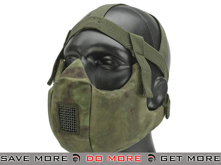 6mmProShop V5 Padded Dual Layered Nylon Half Face Mask w/ Bump Helmet Straps (Arid Foliage) Knee / Elbow Pads- ModernAirsoft.com