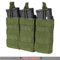 Condor Olive Drab Tactical Open Top Triple M4 Magazine Pouch-ModernAirsoft