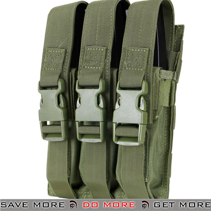 Condor Tactical Triple MP5 / SMG Magazine Pouch Olive Drab-ModernAirsoft